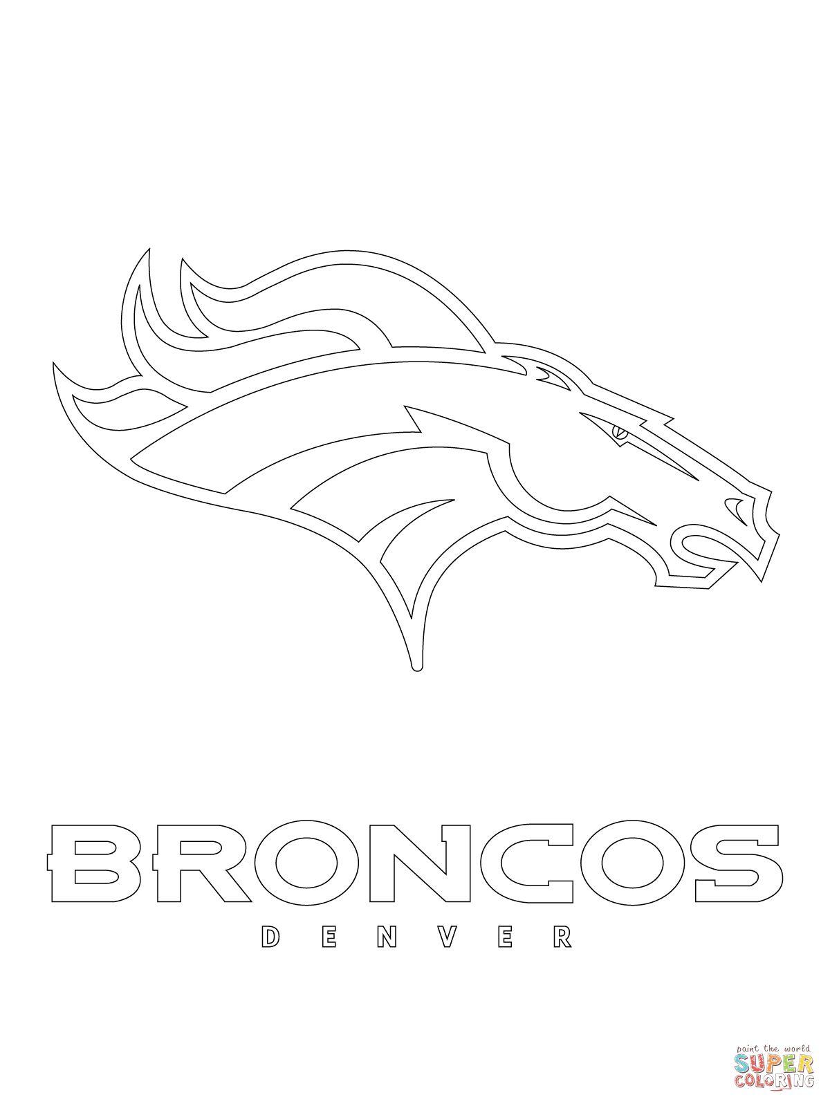 Denver Broncos Logo Coloring Page Supercoloring Com Broncos Logo Denver Broncos Logo Denver Broncos
