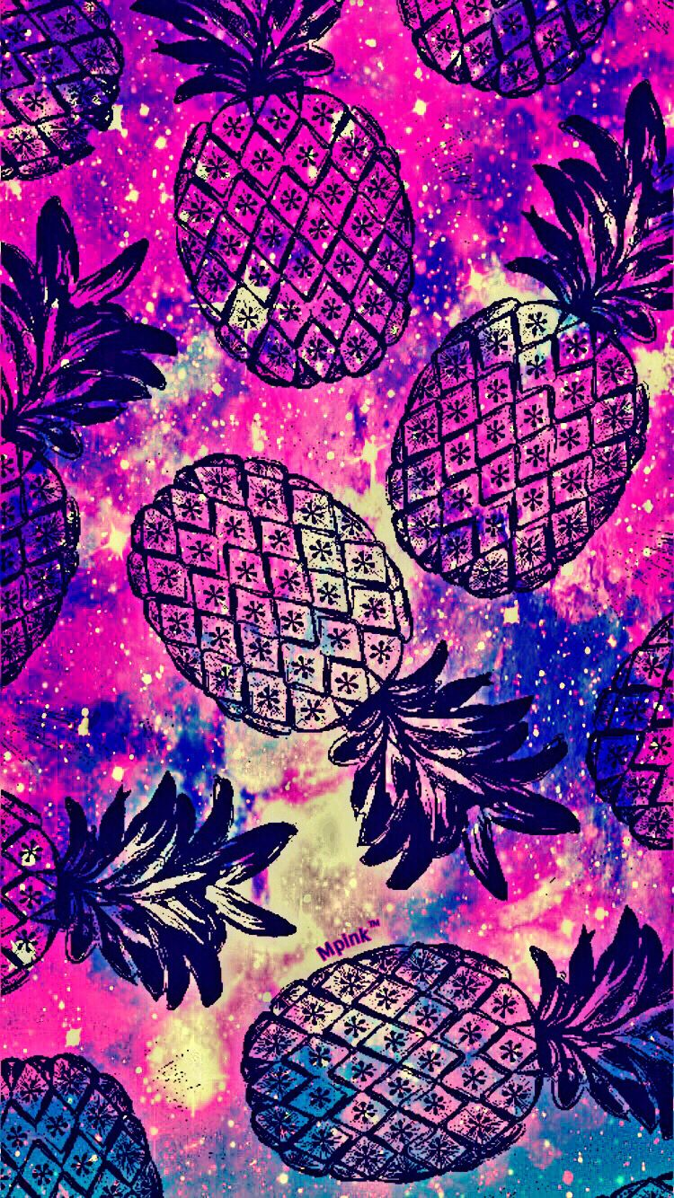 Cute Fruity Pineapple iPhone/Android Wallpaper pineapple