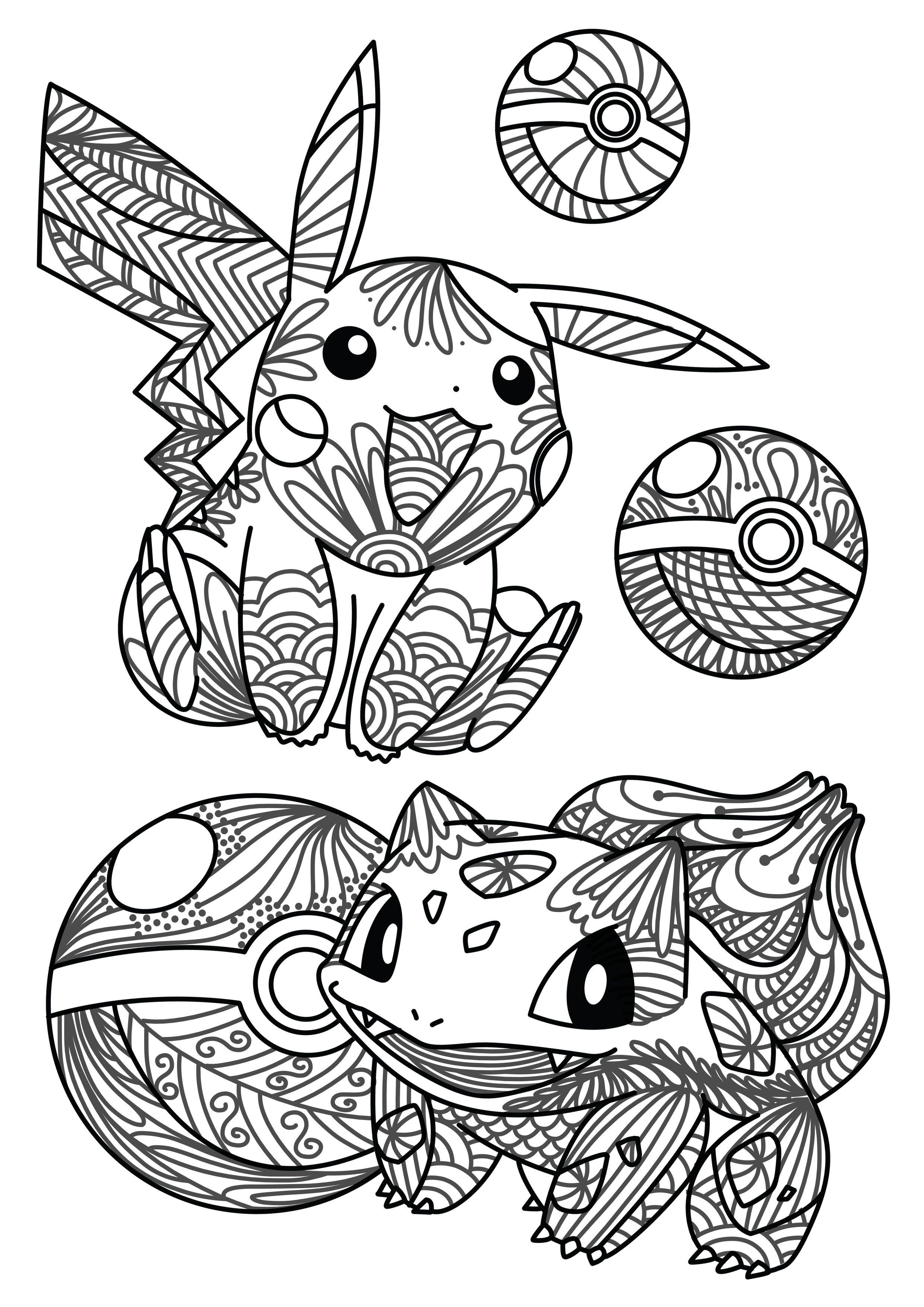 Kids Colouring Pokemon 2480x3508