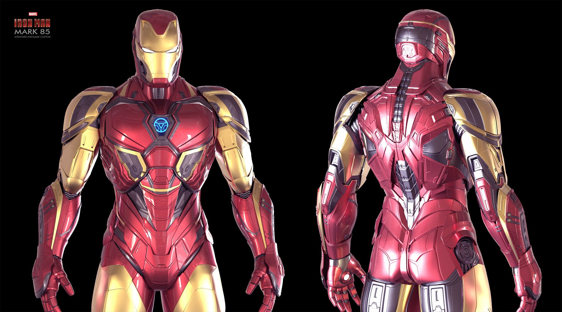 Artstation Iron Man Endgame Custom Mk 85 Christophe Lacaux Iron Man Avengers Iron Man Armor Iron Man