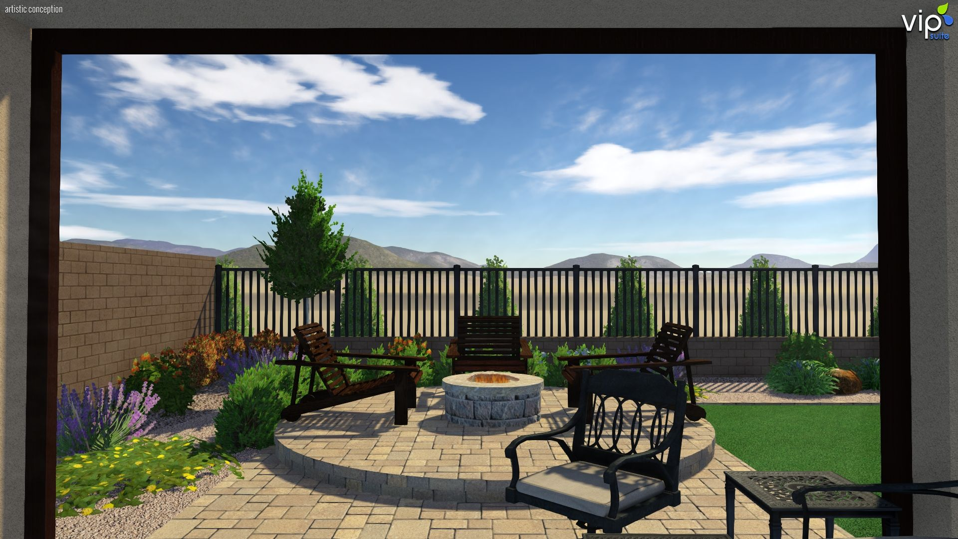 3d landscape design small vegas backyard turned into a awesome