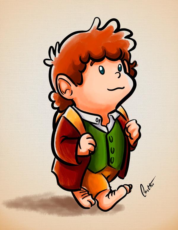 Bilbo Drawing By Tolkien Fanart Bilbo Baggins By
