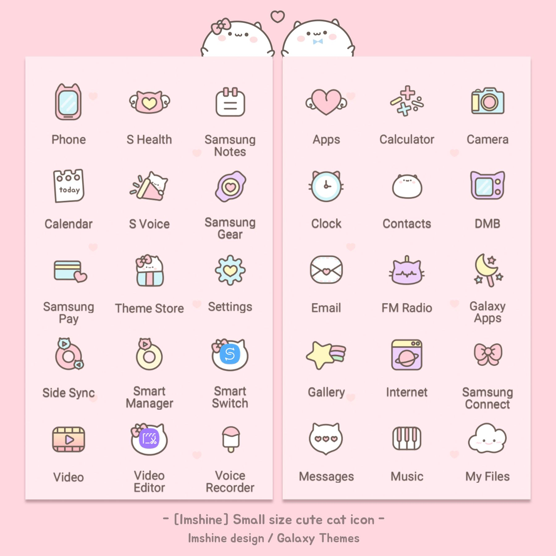 Pink Cute Cat Icon Design Theme App Drawings Icon Design
