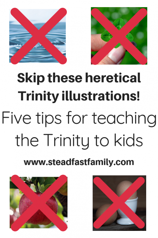 How to Explain the Trinity to Kids | Steadfast Family Blog | Bible
