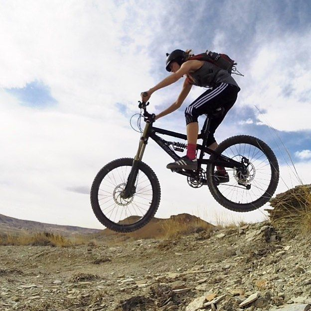 Is it #mtb season yet? Ambassador @hjdarrin catching a some air at