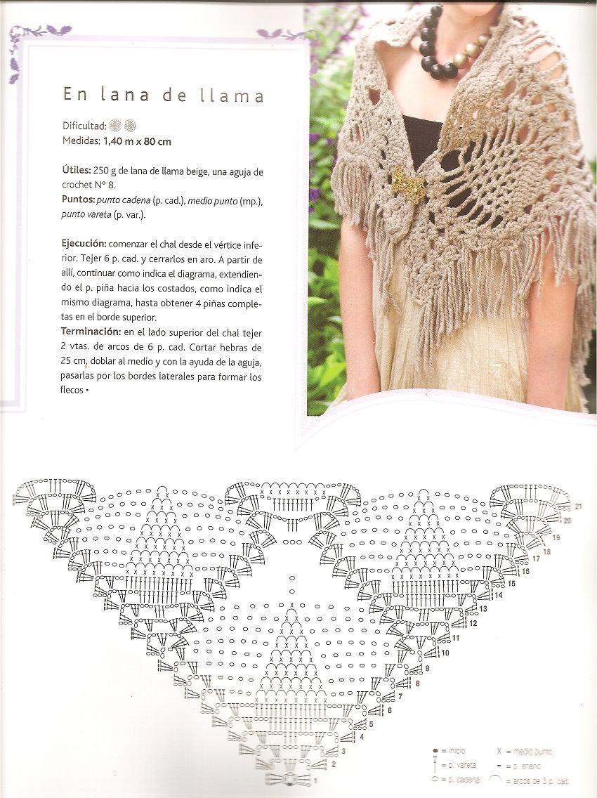 Châles au crochet | SWEATER CROCHET | Pinterest | Capa tejida ...