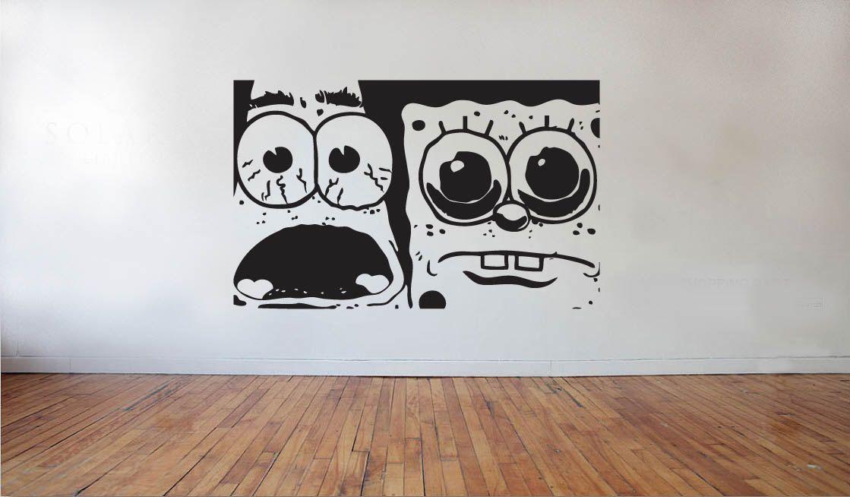 SpongeBob Patrick Suprised Vinyl Decal Sticker Car Wall Mural - Spongebob decals for cars