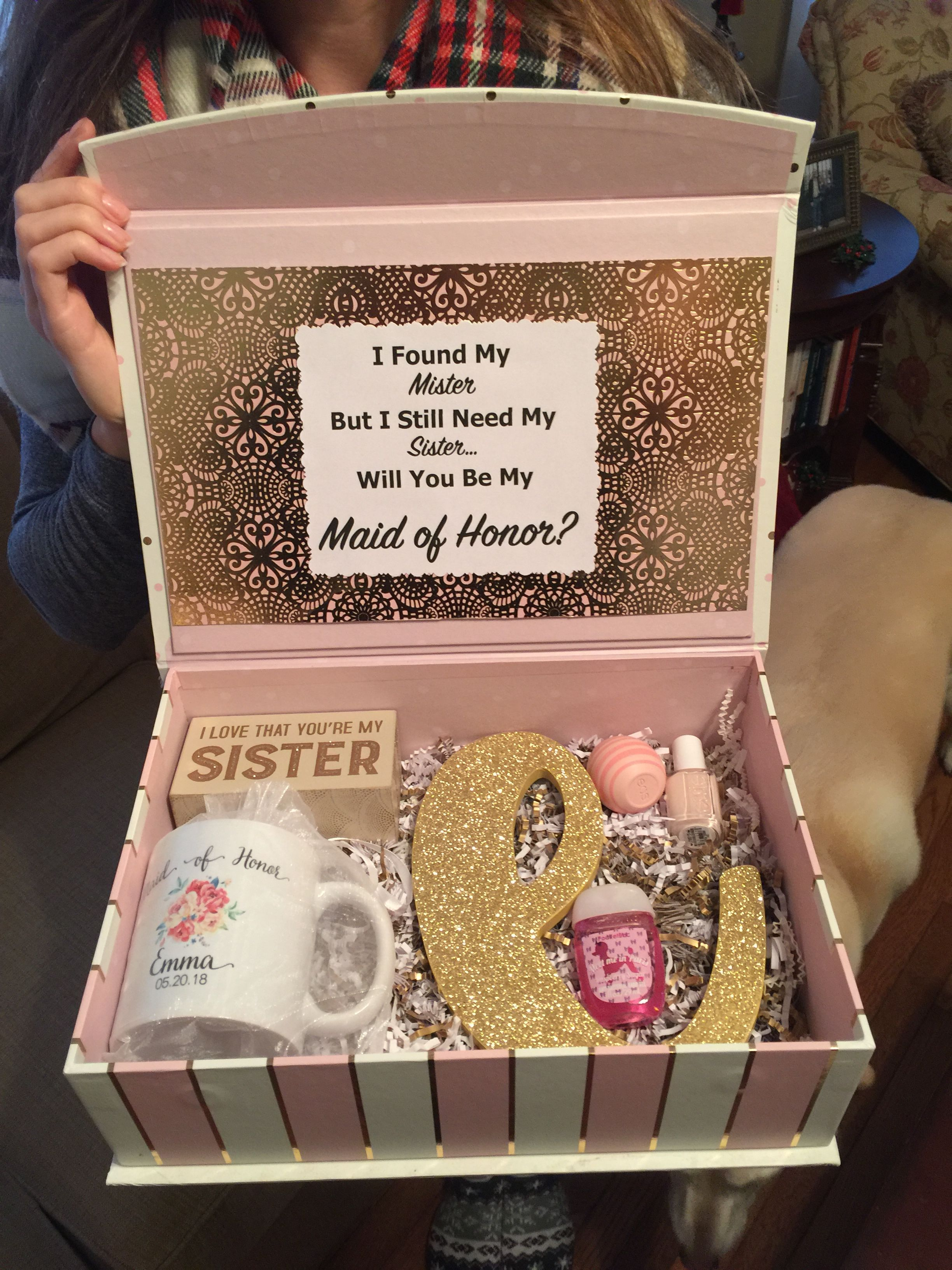 Bridesmaidmaid Of Honor Box Wedding Pinterest Maids Box And