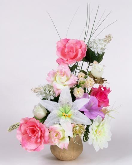 Flores artificiales miniatura arreglos florales for Plantas decorativas artificiales bogota