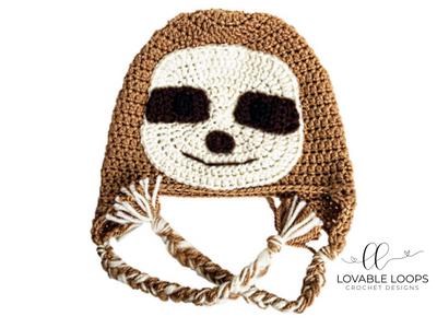 cb46c3250 Free Sloth Hat Crochet Pattern | Crochet | Easy crochet hat, Crochet ...