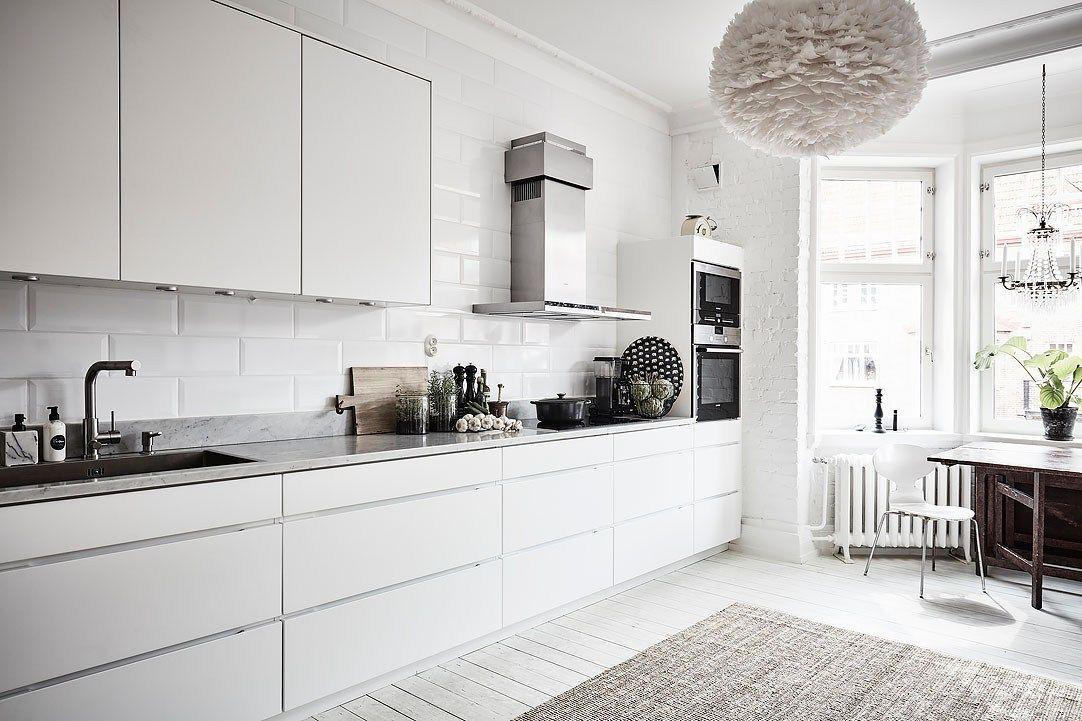 Lámpara de plumas en la cocina Eos Lampshade VITA diseño interiores ...
