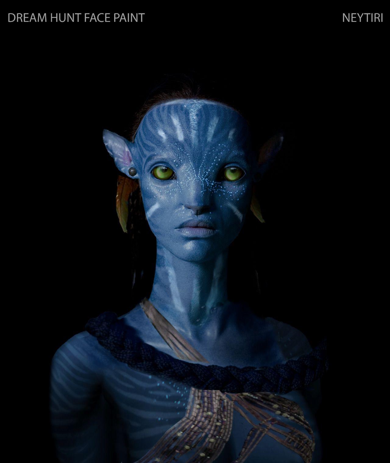 Avatar 2 Movie: Neytiri Face Paint Concept Art.