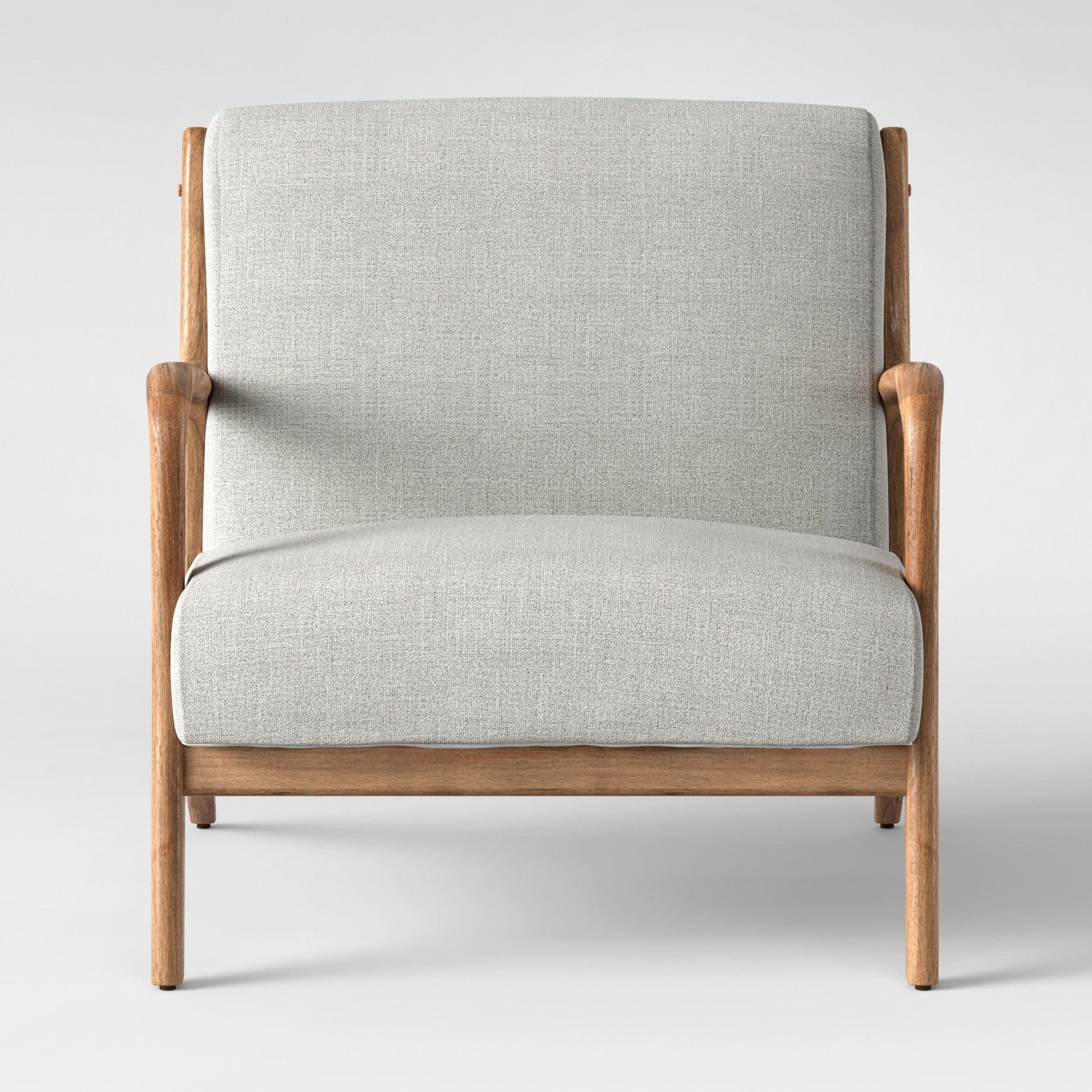 Esters Wood Arm Chair - Light Gray - Project 62 | Solid wood, Wood ...