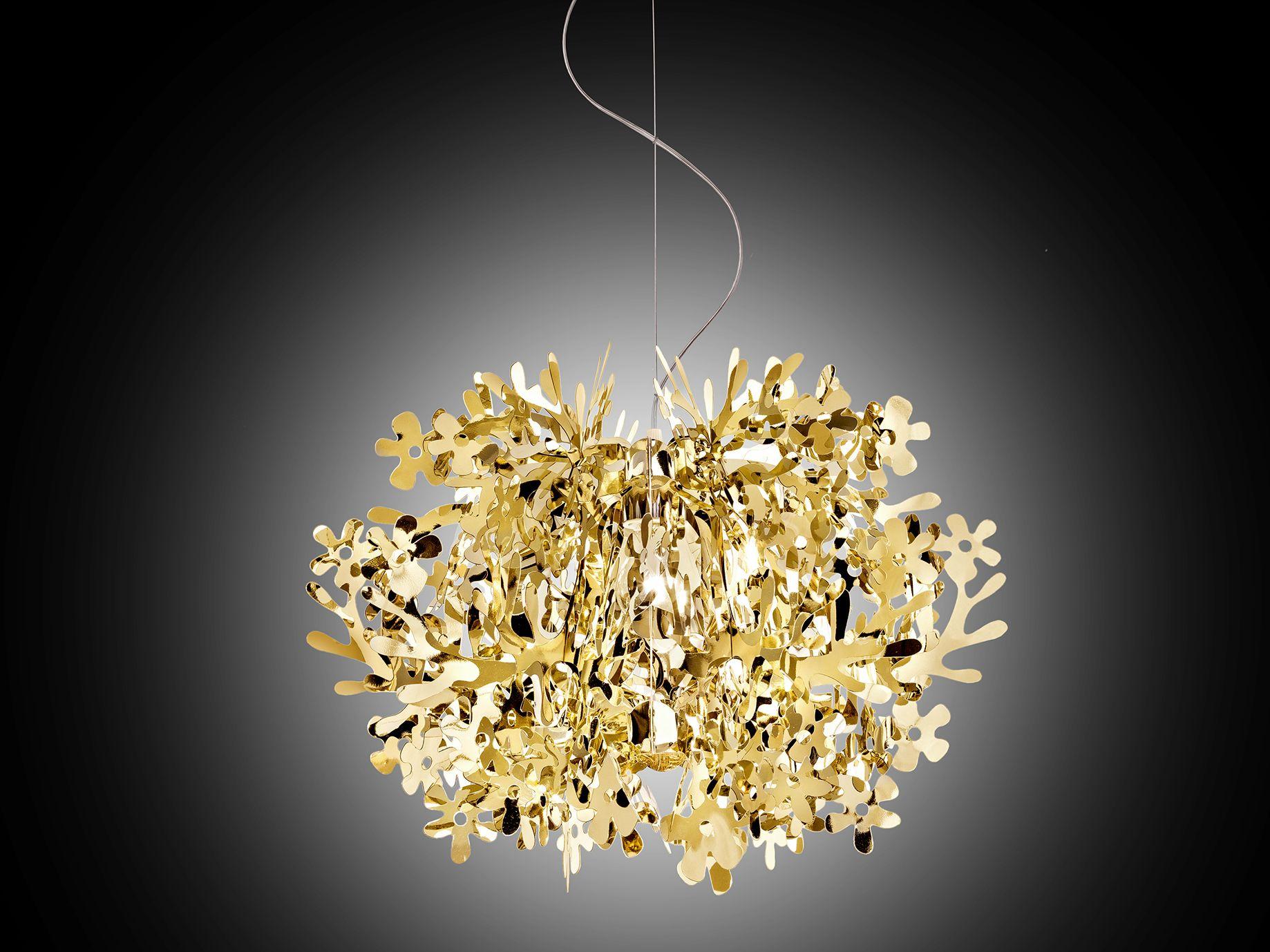 Lampadario Fiorella Slamp : Fiorella mini gold illuminazione lustre pendente luminária