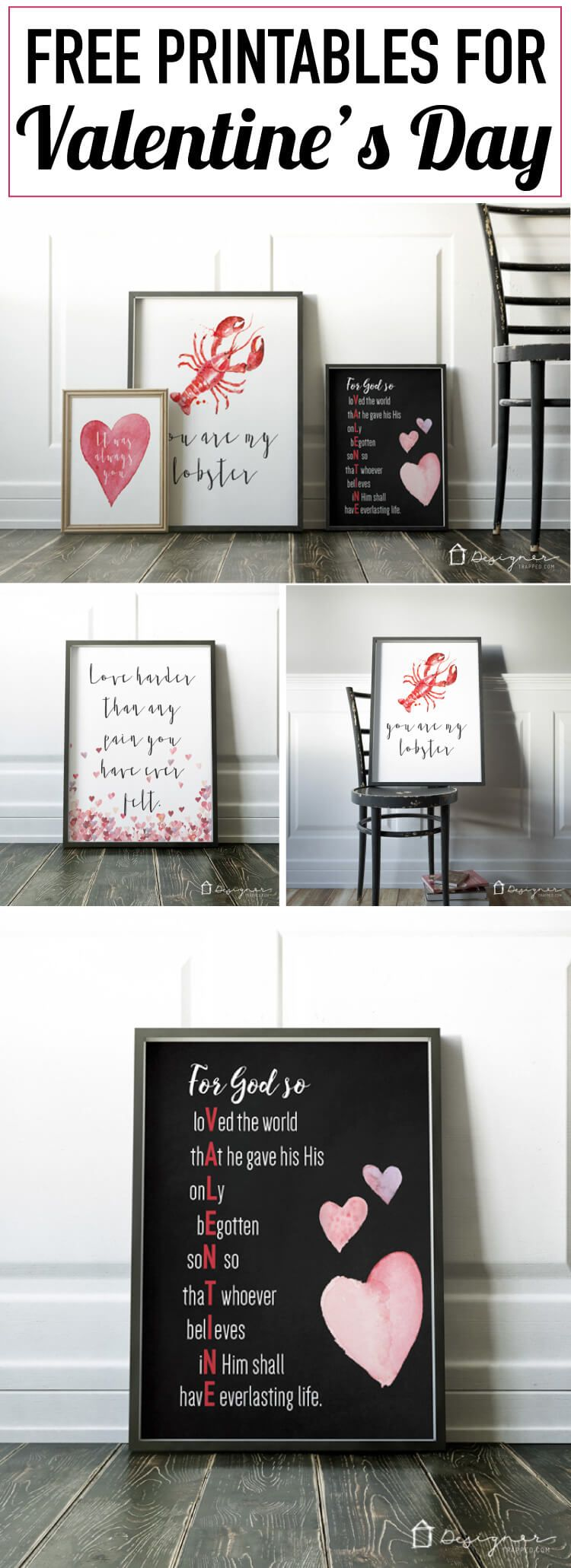 FREE Valentines Printables  Printing Free and Cant wait