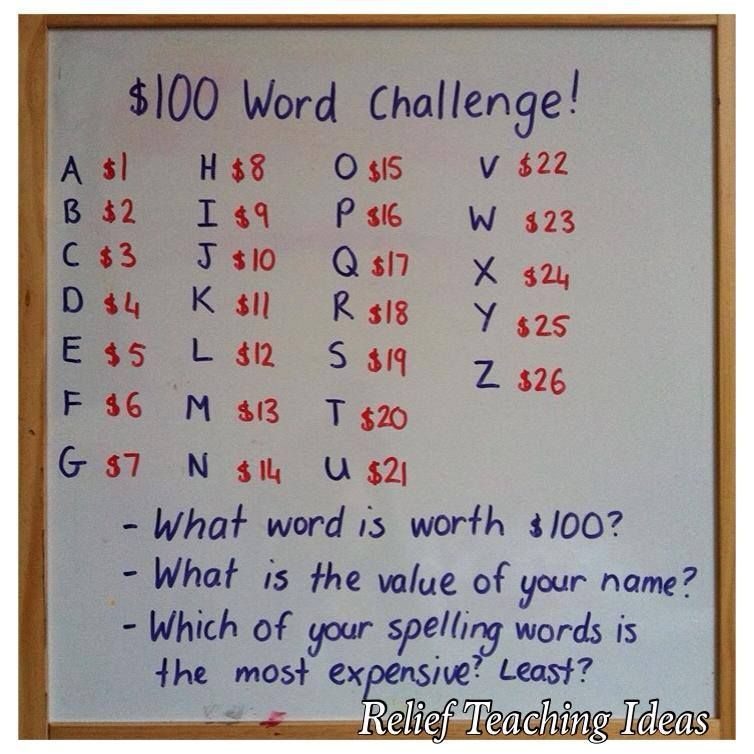 Word Challenge Challenge The Students To See If They Can Come