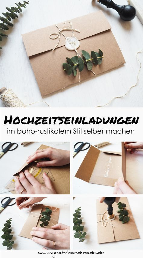 Photo of DIY Hochzeitseinladungen im boho-rustikalen Stil – Yeah Handmade