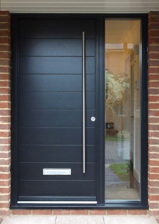 Kloeber FunkyFront contemporary timber entrance door Hamburg 1 Frame 3 Painted RAL 9005 Jet & Kloeber FunkyFront contemporary timber entrance door Hamburg 1 ...