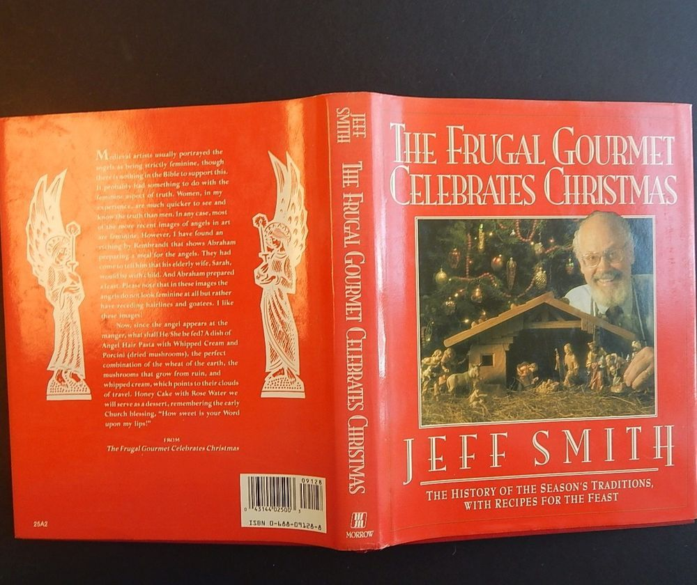 The Frugal Gourmet Celebrates Christmas Hardcover Book Recipes Traditions w/ DJ