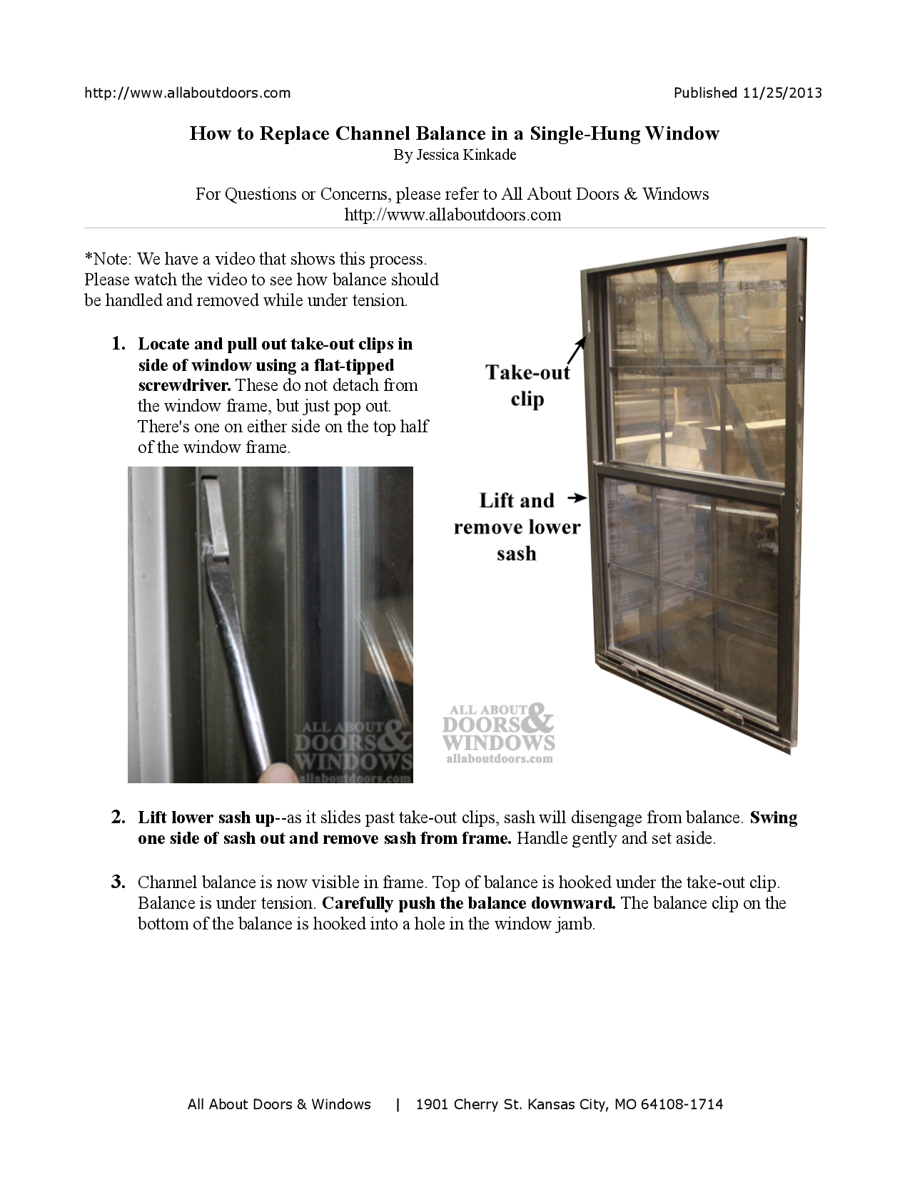 How To Replace Channel Balance In A Single Hung Window