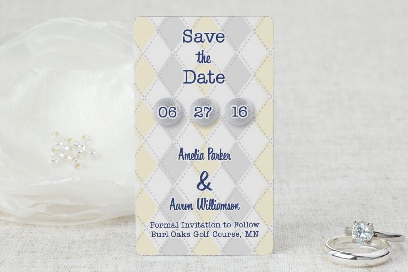 Golf Themed Wedding - Save the Date Magnet by MagnetStreet