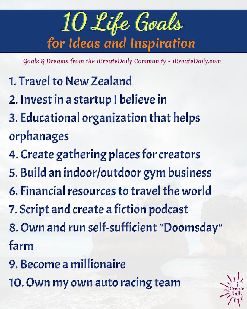 20+ Life Goals List for Ideas and Inspiration   Goals, Habits ...