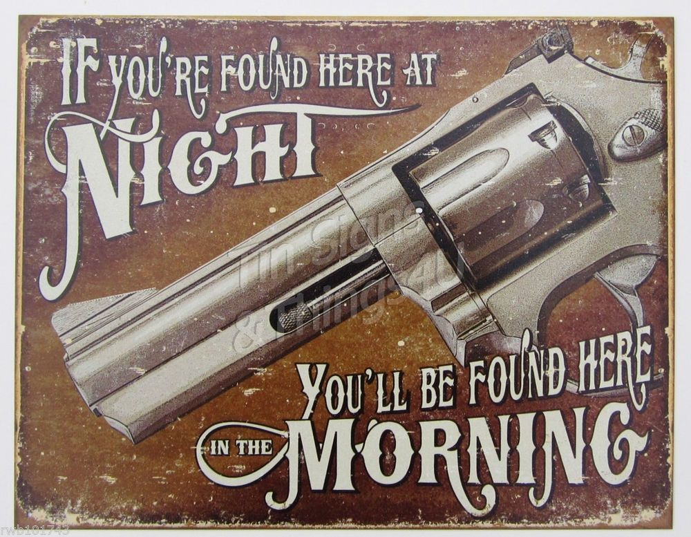 KEEP OUT NO TRESPASSING JOHN WAYNE with gun metal tin sign the wall poster