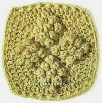 lo spazio di lilla: Piastrelle crochet con punto nocciolina / Crochet ...