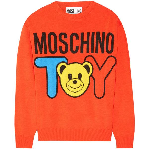 Moschino Intarsia wool sweater (£325) ❤ liked on Polyvore
