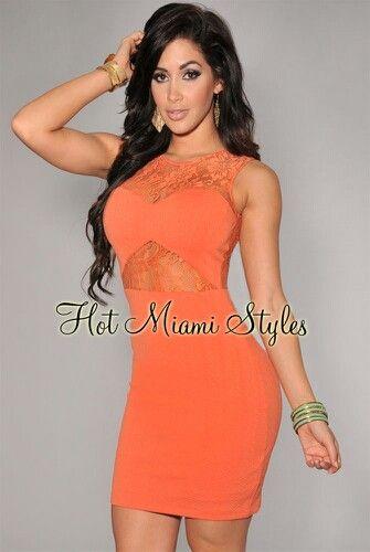 Orange sexy dress | ♔Clothes Envy♚ | Pinterest