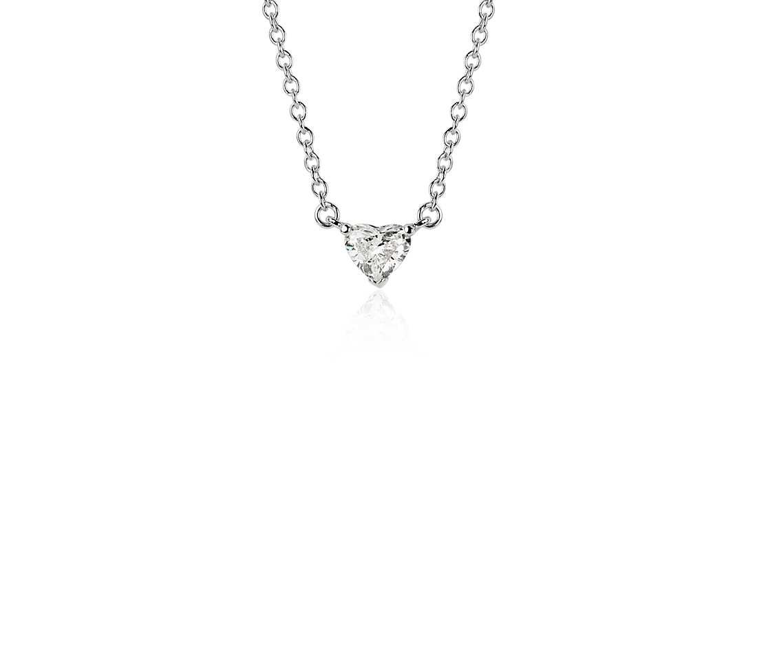 Heartshaped diamond pendant in k white gold ct tw