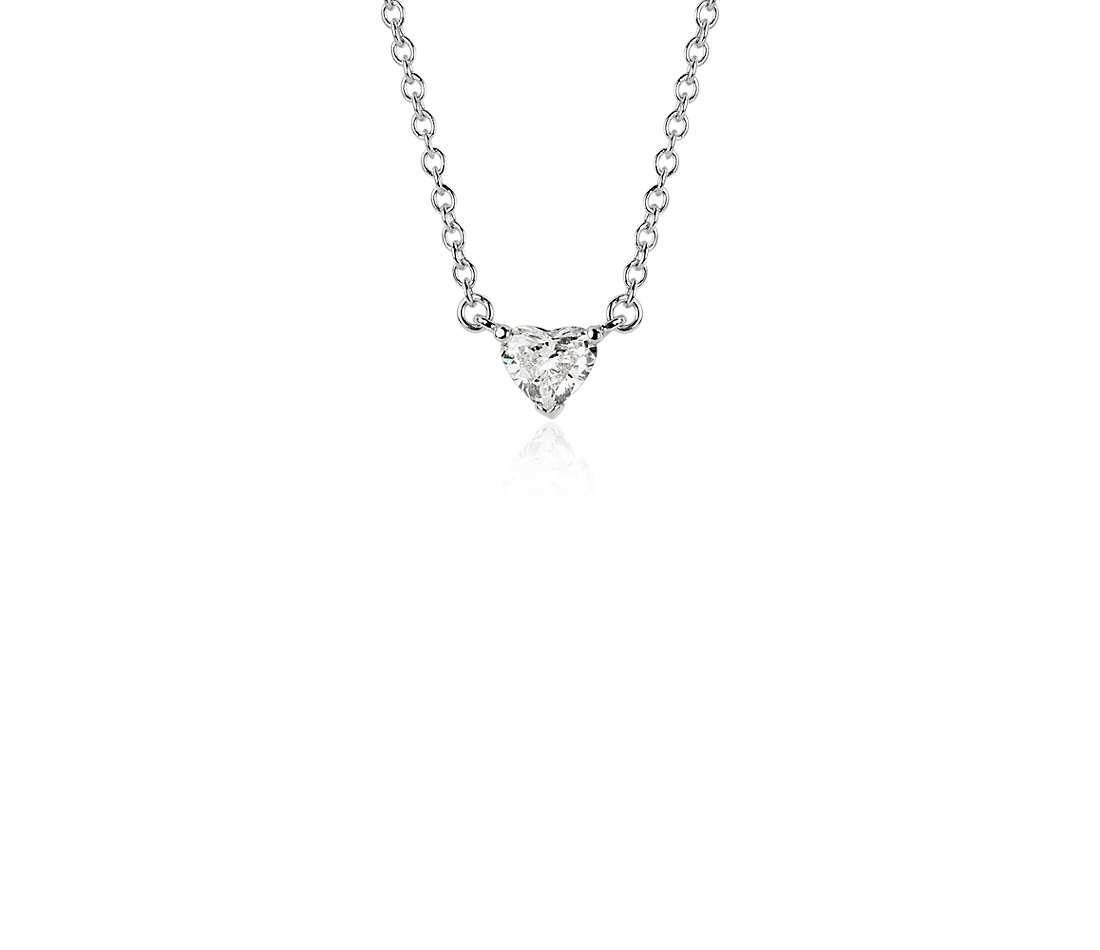 Heartshaped diamond pendant in k white gold ct tw