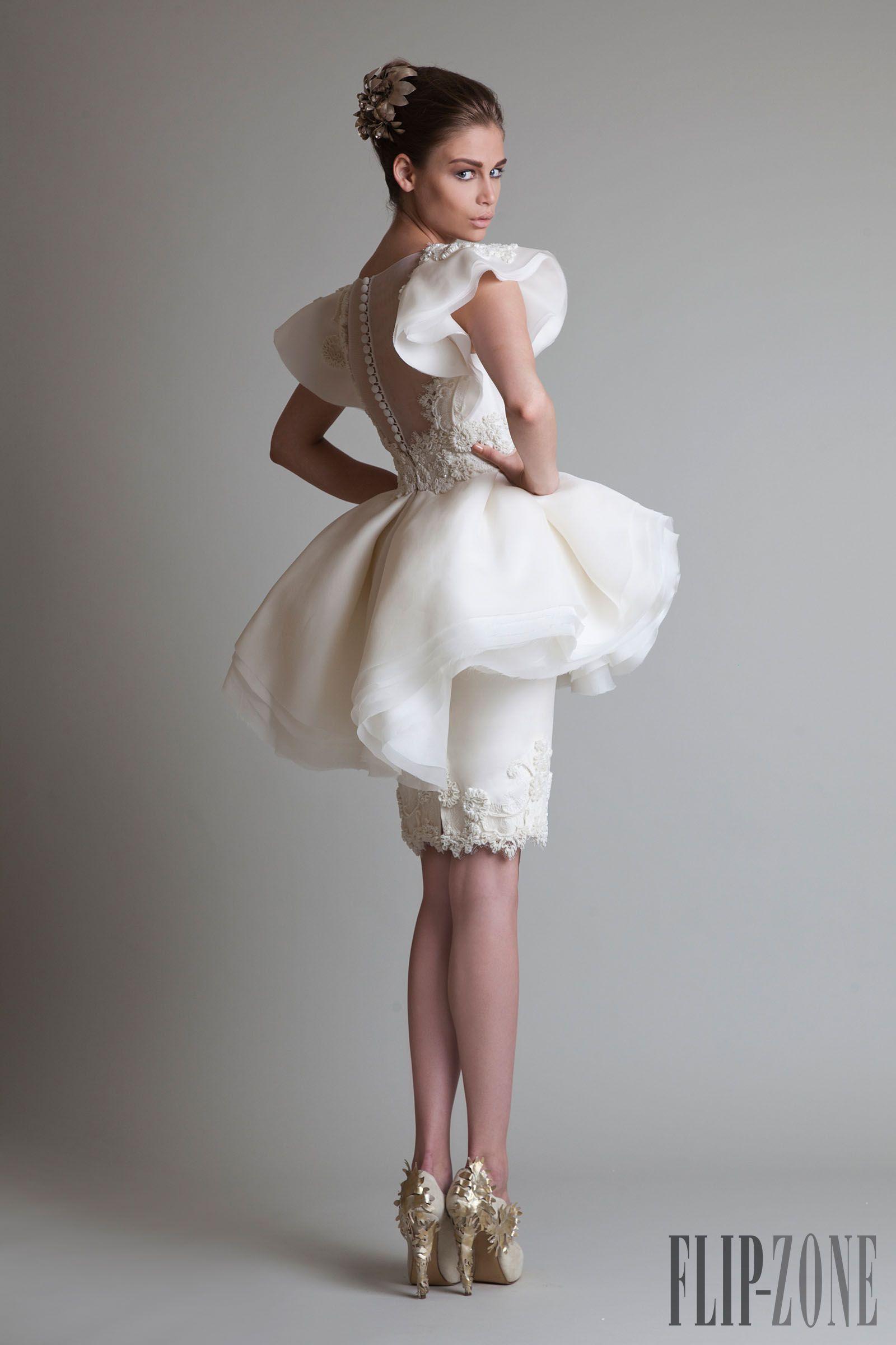 Krikor Jabotian wedding gown. Short gown. Good for rehearsal dinner ...