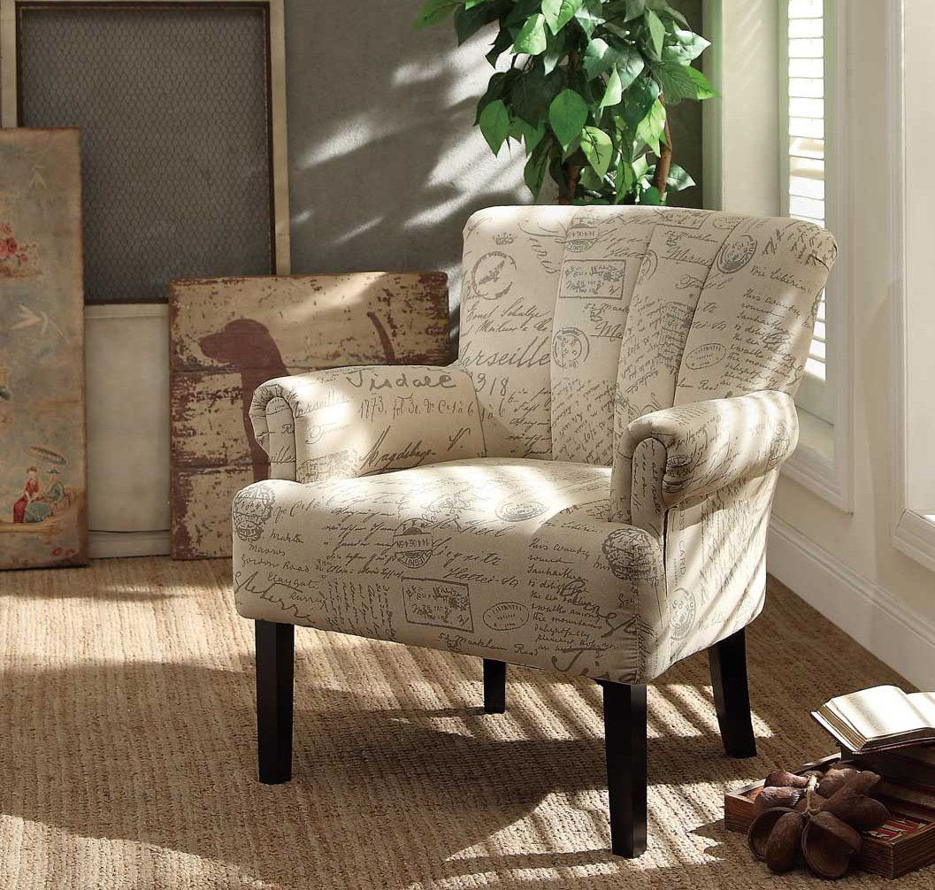 Strange Langdale Cottage French Noted Fabric Accent Chair Fan Back Home Interior And Landscaping Oversignezvosmurscom
