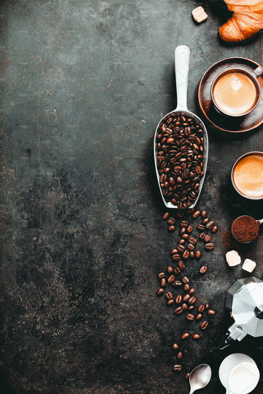Coffee Espresso In Dark Cups Coffee Coffee Beans Photography Coffee Photography Coffee Recipes