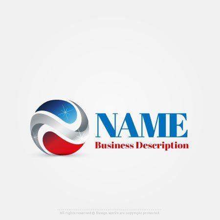 Design 3D USA logo Online with Our Free 3D logo maker app