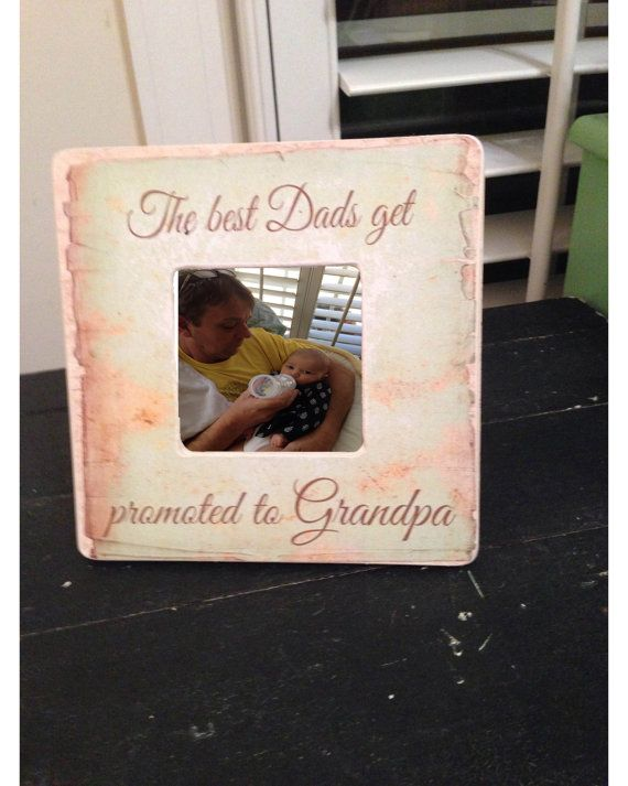 Picture Frame Rustic Picture Frame Grandpa by SweetDayDesigns