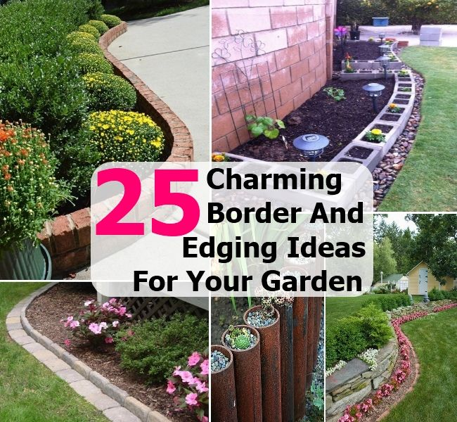 25 Charming Border And Edging Ideas For Your Vegetable And Flower Within  Vegetable Garden Border Ideas