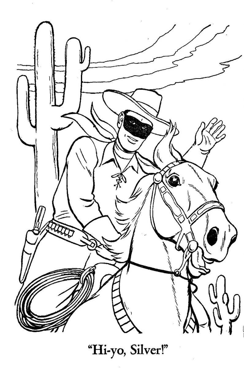 Whitman hot wheels coloring book - Coloring Books Adult Coloring Coloring Pages Lone Ranger Color Sheets Fun For Kids Gel Pens Wild West Colored Pencils