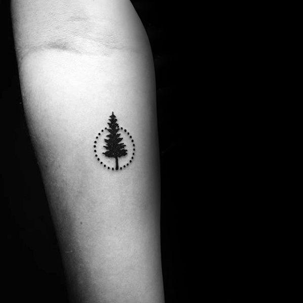 Circle Tree Simple Mens Forearm Tattoos Tattoosformenforearm