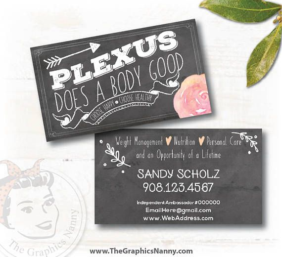 Chalkboard Plexus Does A Body Good Business Card This Item Is Fully Updated High Quality 35 X 2 Standard Size Gloss 14pt Paper