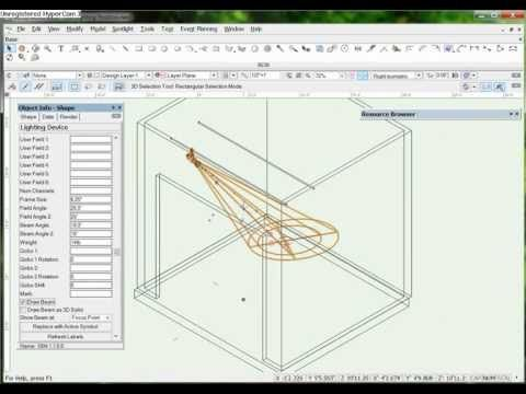 Vectorworks Spotlight 3D Light Position - YouTube | Learning