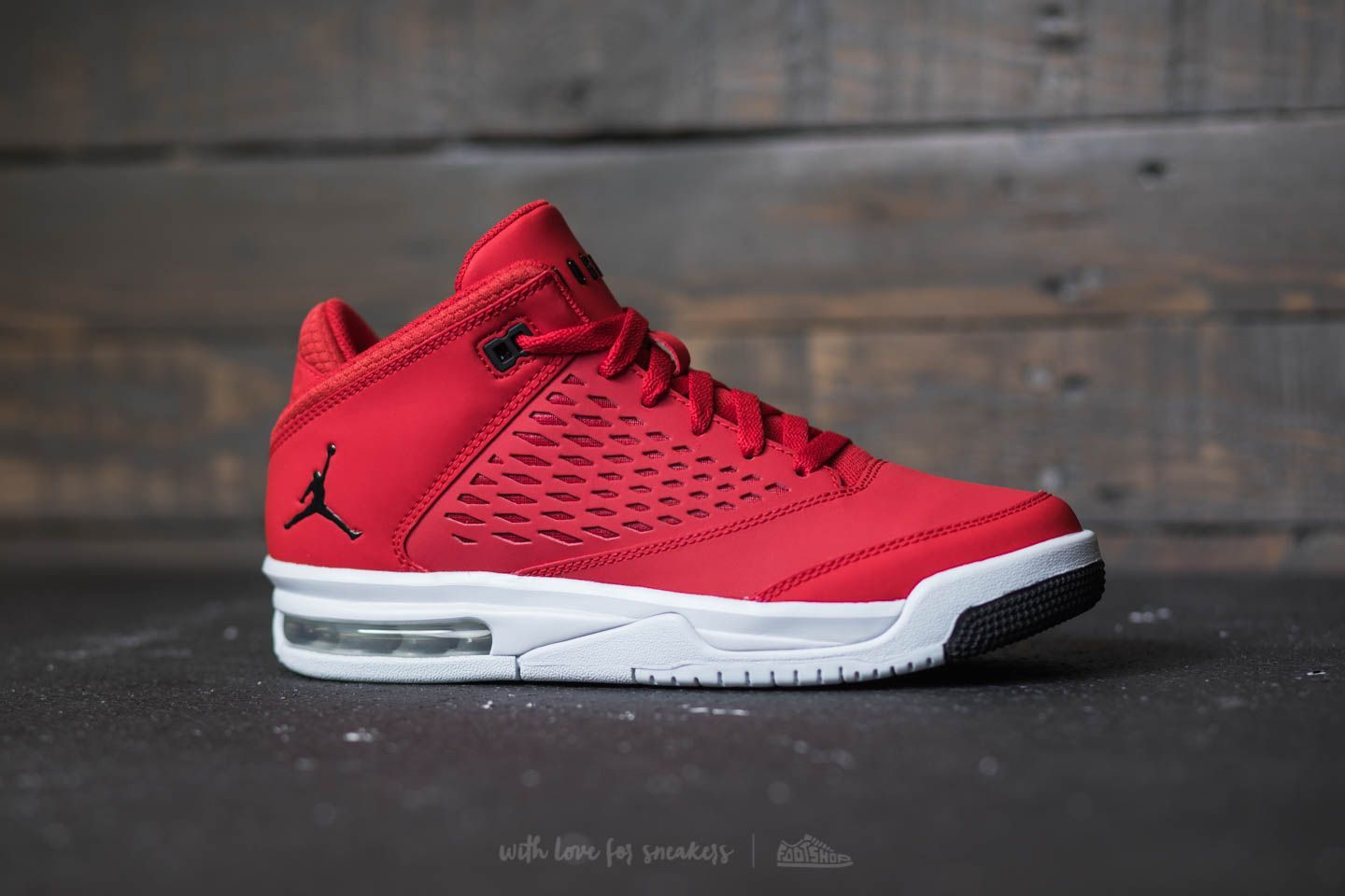 meet 5290f dbaa6 Jordan Flight Origin 4 BG Gym Red  Black-Pure Platinum at a great price 92  € buy at Footshop