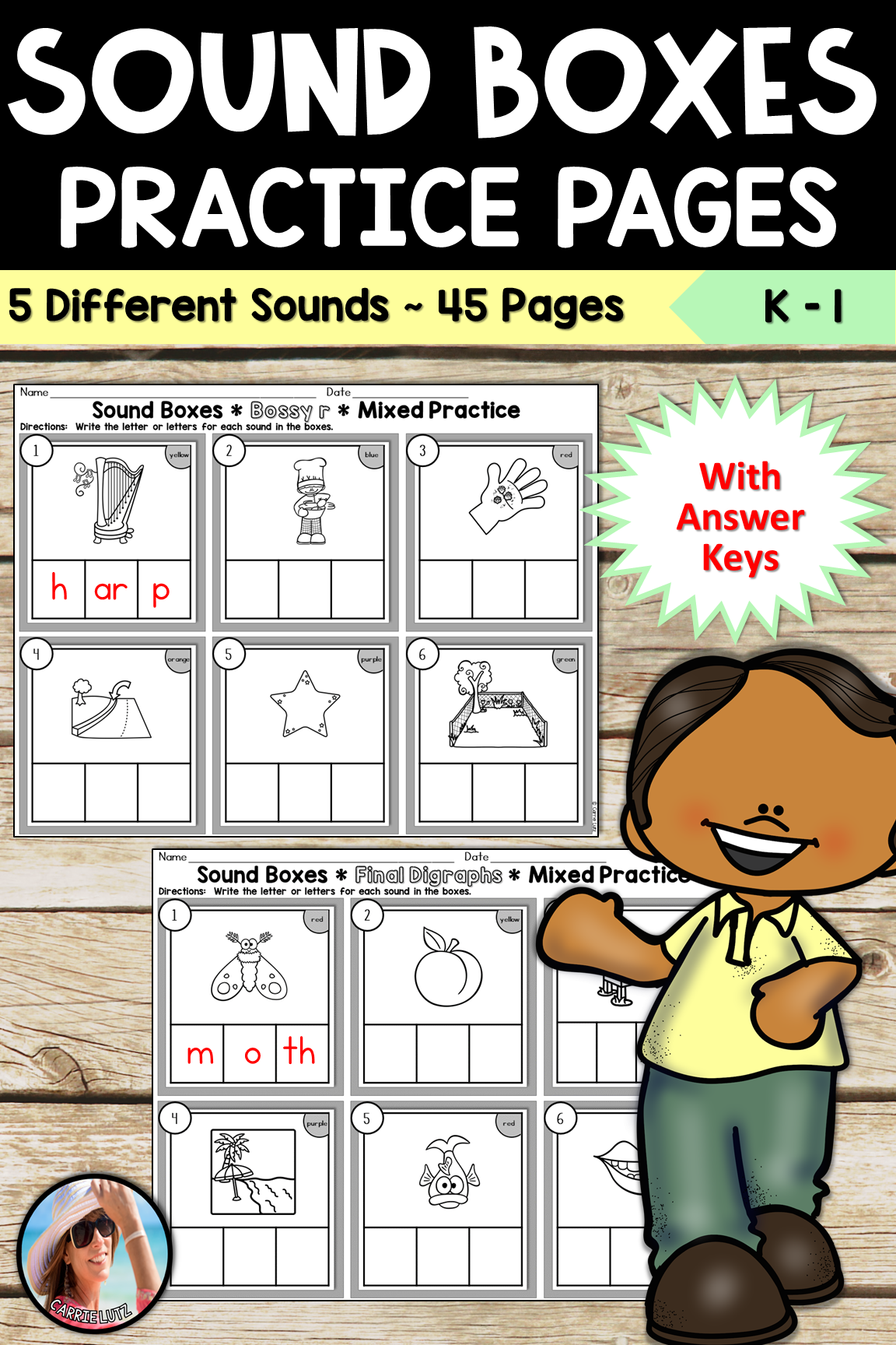 Sound Boxes Worksheets Distance Learning
