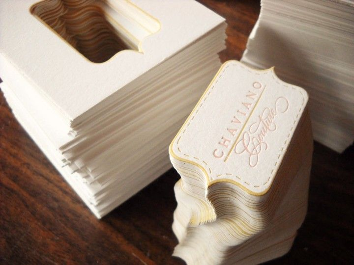 Photography Business Cards Series: Letterpress