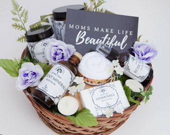 All Natural Pregnancy Gift Basket New Mom Baby Birthday Spa Organic