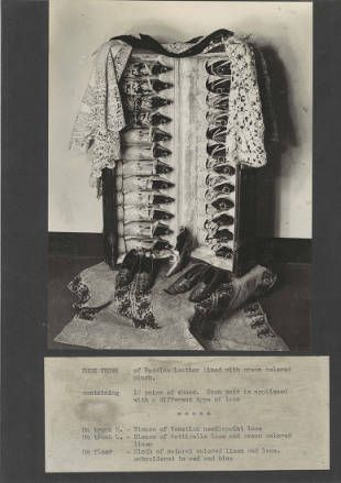 Special exhibition : [invitations, installation photographs, wall text] costumes, shoes and mantillas worn by Rita de Acosta Lydig, March 12 to June 29, 1940. Costume Institute Exhibition Binders. The Metropolitan Museum of Art, New York. Costume Institute (b1756976x) #fashion