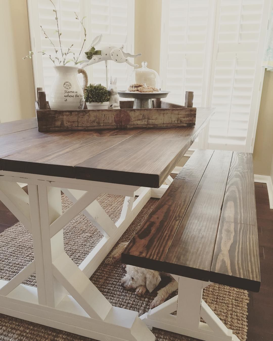 Antique farmhouse table i spy our dutch tulip crate beautifully styled on homedecormommaus
