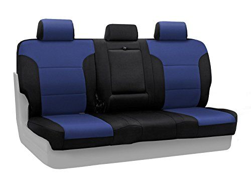 Coverking Custom Fit Seat Cover For Select Hyundai Elantra Models Neosupreme Navy Blue With Black S Custom Fit Seat Covers Back Seat Covers Custom Seat Covers