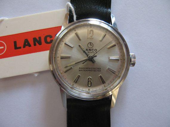 Vintage Unisex Lanco Swiss watch  wristwatch by VintageJewelries